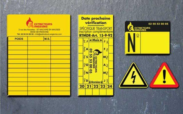 étiquettes industrielles